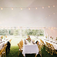 Photo for Party Time Rentals Review - Tent, tables, chairs, and lights from Party Time Rentals.
