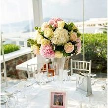 Photo for Wedding Wish Santorini Review - Reception flower centrepieces