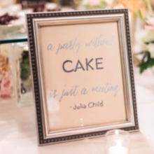 Photo for The Wedding Planner Review - Embossed signs by bride