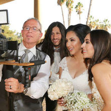 Photo of Coronavideos.com in Riverside, CA - Sal the videographer with the bride, bridesmaid and guest.