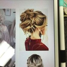 Photo of Naviina Salon & Day Spa in Wells, ME - The inspiration pic for the updo.