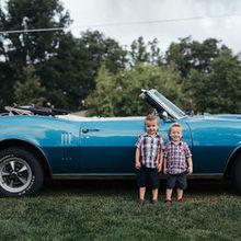 "Photo of Be Boulder Photography in Boulder, CO - Nephews with ""the goat"" GTO"