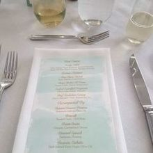 Photo of pdr events by Pamela D'Orsi Ryan in East Greenwich, RI - Pamela designed these menus