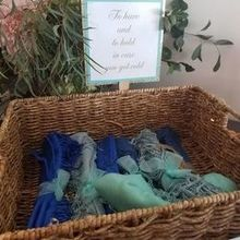 Photo of pdr events by Pamela D'Orsi Ryan in East Greenwich, RI - Pamela arranged the pashminas for guests