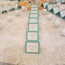Photo of pdr events by Pamela D'Orsi Ryan in East Greenwich, RI - The escort cards that Pamela designed were beautiful