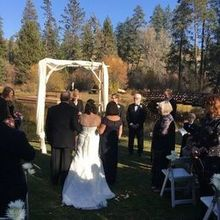 Photo for Bend Weddings and Events Review - Magadalyn helped with Officiant Wendy and had weather backup