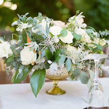 Photo of Laughin Gal Floral in Aromas, CA - Table arrangement curated by Laughin Gal Floral