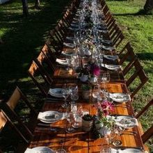 Photo for root + gather events Review - Harvest Tables and Chairs, flowers by Fawns Leap