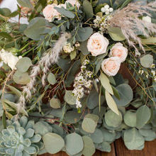 Photo of Vignette in Santa Barbara, CA - Head table florals/greenery