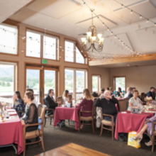Photo for Perry Park Country Club Review - Cozy reception room with bistro lights.