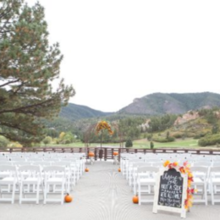 Photo for Perry Park Country Club Review - Fall ceremony setup. Venue had ceremony chairs and arch
