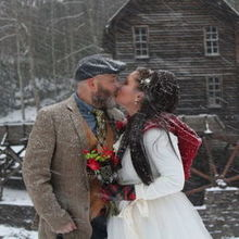 Photo of Todd A. Gray, Wedding Officiant in Princeton, WV - Frozen, clenched fists, red ears, and full hearts.