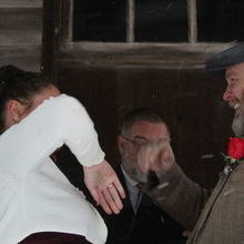 Photo of Todd A. Gray, Wedding Officiant in Princeton, WV - We high-fived before the first marital kiss. Best friends.