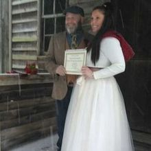 Photo of Todd A. Gray, Wedding Officiant in Princeton, WV - We adore the little personal touch of our certificate.