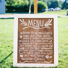 Photo for The Wooden Spoon Catering Company Review - our delicious menu handmade sign by my husband!