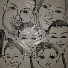 Photo for Caricatures By Marty Review - he did this couple at their wedding now look.. family of 6