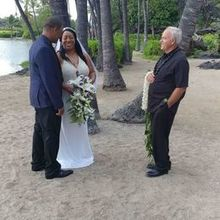 Photo for Hawaiian Island Weddings Review - Lovers & officiant!