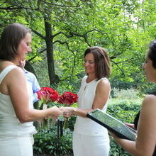 Photo for Officiant Rev. Mary-Rose of Engle Heart Ceremonies Review - Shakespeare Garden Central Park