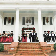 Photo of Rose Hill Plantation in Nashville, NC - Bridal photos outside the Manor House.