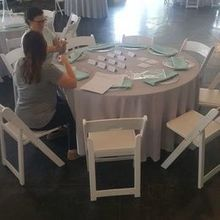 Photo of Elizabeth's Events in Cary, NC - Elizabeth and her assistant hard at work!