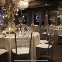Photo of The Village Club at Lake Success in Great Neck, NY - View of our ballroom and arrangements.