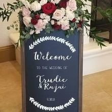 Photo for The Finishing Touch Wedding Design Review - Welcome Sign