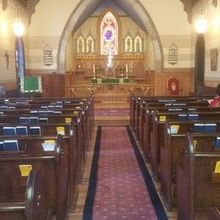 Photo for Calvary Church Review - Historic Church altar as seen from the back of the pews