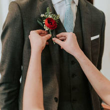 Photo for House of Blooms Review - Groom's boutonniere, pic © Barrera Photography