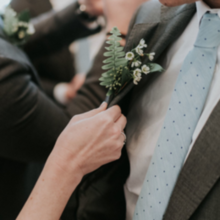 Photo for House of Blooms Review - Groomsman boutonniere, pic © Barrera Photography