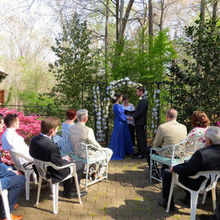 Photo of Reverend Kayelily Middleton in Raleigh/Durham/Chapel Hill and surrounding areas, NC - The wedding garden was in bloom - it was a perfect day!