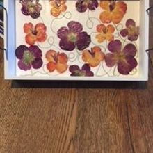Photo of Flyboy Naturals Rose Petals in Myrtle Creek, OR - Pressed Flower Serving Tray Workshop - example of guests art