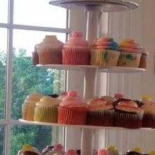 Photo of Edibles Incredible Desserts in Reston, VA - Cupcake tower with top cake tier