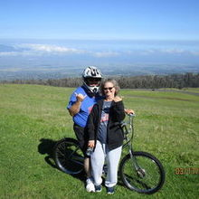 Photo for Linda Dancer with Honeymoons, Inc. Review - Bike ride down hill in Haleakala National Park