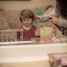 Photo for Happily Ever After Hair Review - Head stylist Amy even fixed up my 4yr old son's hair