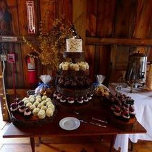 Photo for Frosted Swirl Cupcakes Review - A beautiful display for a rustic barn themed wedding