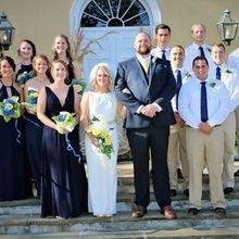 Photo of Middleburg Community Center in Middleburg, VA - Wedding party pictures in front of venue