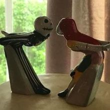 Photo for The Fancy Cake Box Review - My own toppers of Jack and Sally which are salt and pepper s