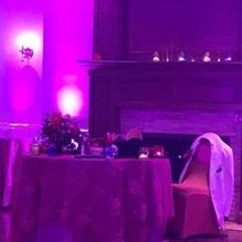 Photo for Elite Entertainment Review - Our sweetheart table with chic purple lighting