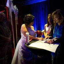 Photo for Rabbi Cantor Marie Betcher Review - Signing the ketubah