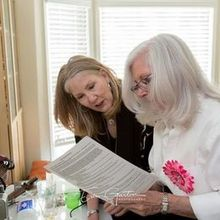 Photo of Timeless Celebrations in Pasadena, CA - Peggy helping with the marriage license.