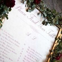 Photo for Lovely Event Planning Review - Escort Board (leather with gold frame and garland)