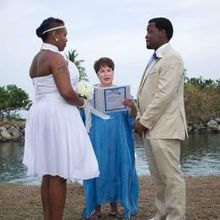 Photo for Performing the Wedding Review - Reissa Leigh Dressed to match the Bride & Groom.