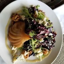 Photo for Jedediah Hawkins Inn Review - Poached pear salad. Exquisite.