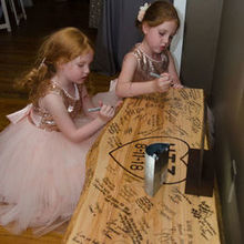 Photo for Bricello's Caterers Review - Handmade bench was their guestbook