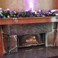 Photo of Entirely Poshable in Federal Way, WA - Flowers moved to the fireplace mantel