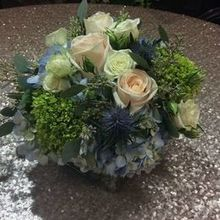 Photo of Viburnum Designs in Princeton, NJ - Centerpiece Samples! Wedding Colors were Blue and Gray